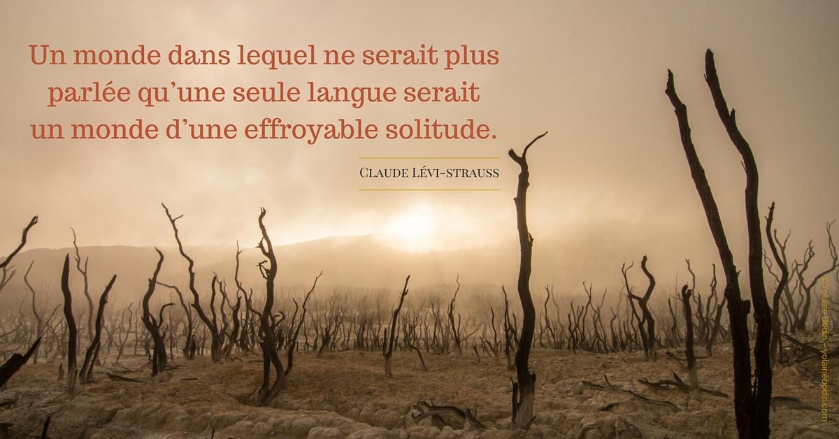 Un monde dans lequel ne serait plus parlée qu'une seule langue serait un monde d'une effroyable solitude