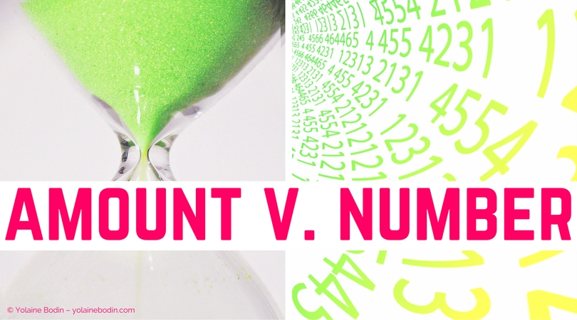 Vocabulaire anglais : amount et number