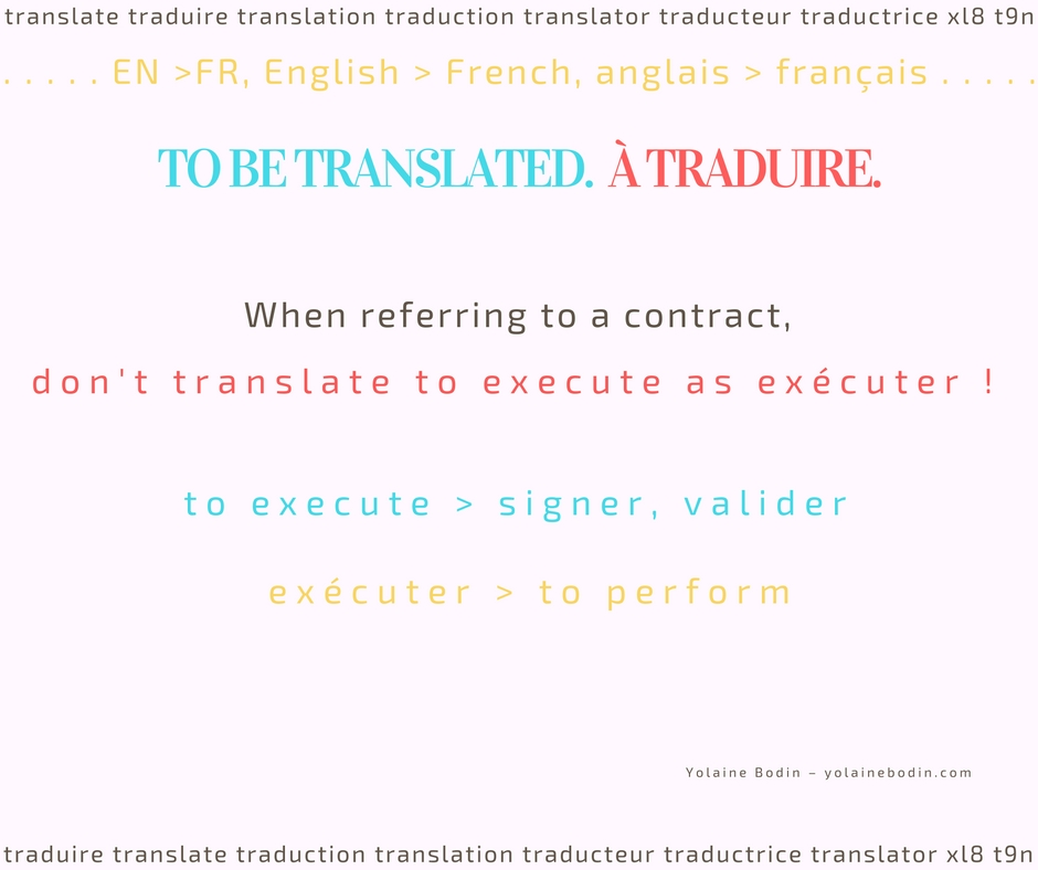 The language of contracts: execute - Translation tip