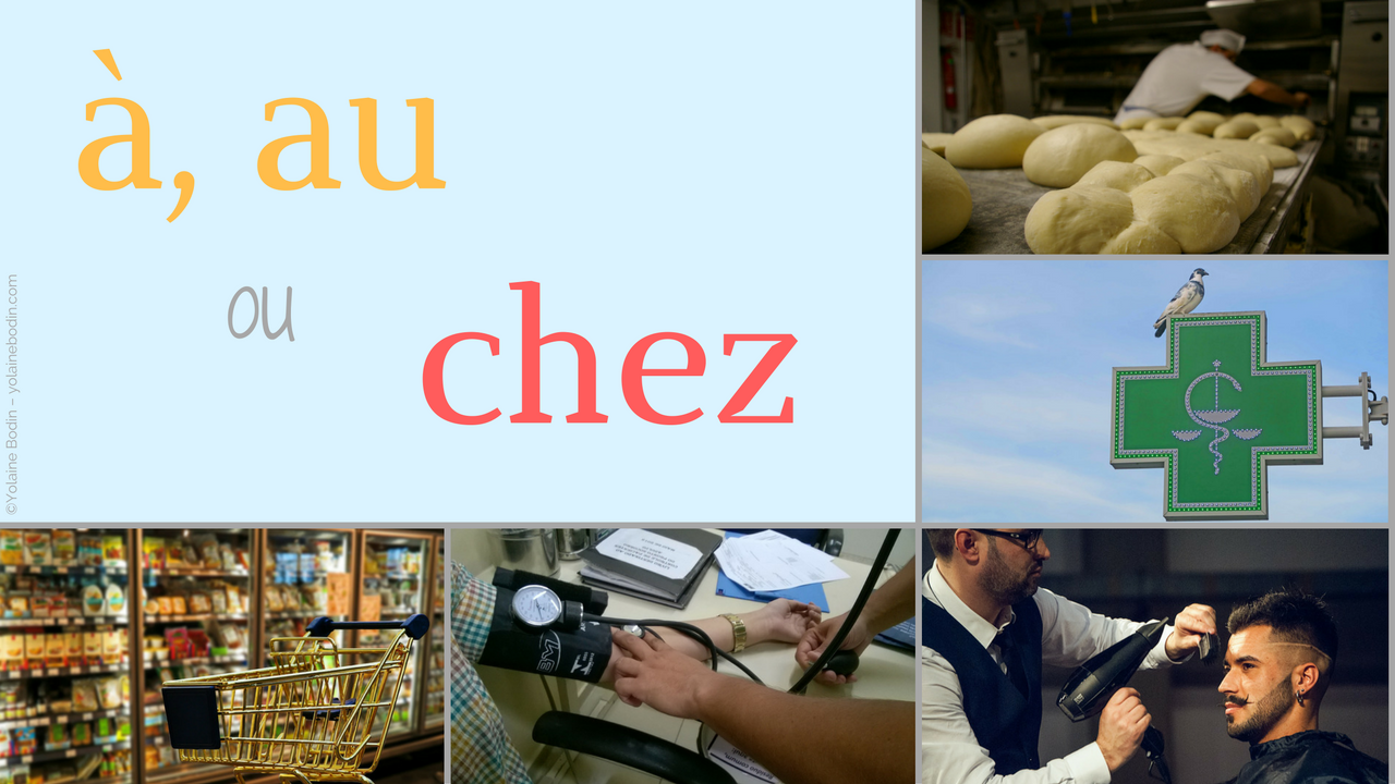 Saying where you're going in French: chez, à, au
