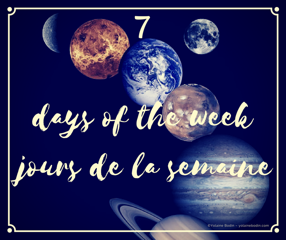 Image - the 7 days of the week / les 7 jours de la semaine