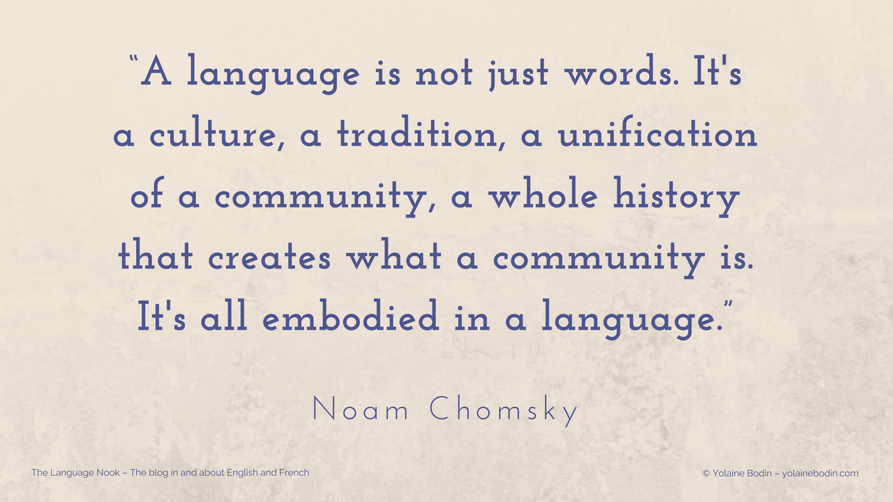 Quote by Noam Chomsky - A language is not just words