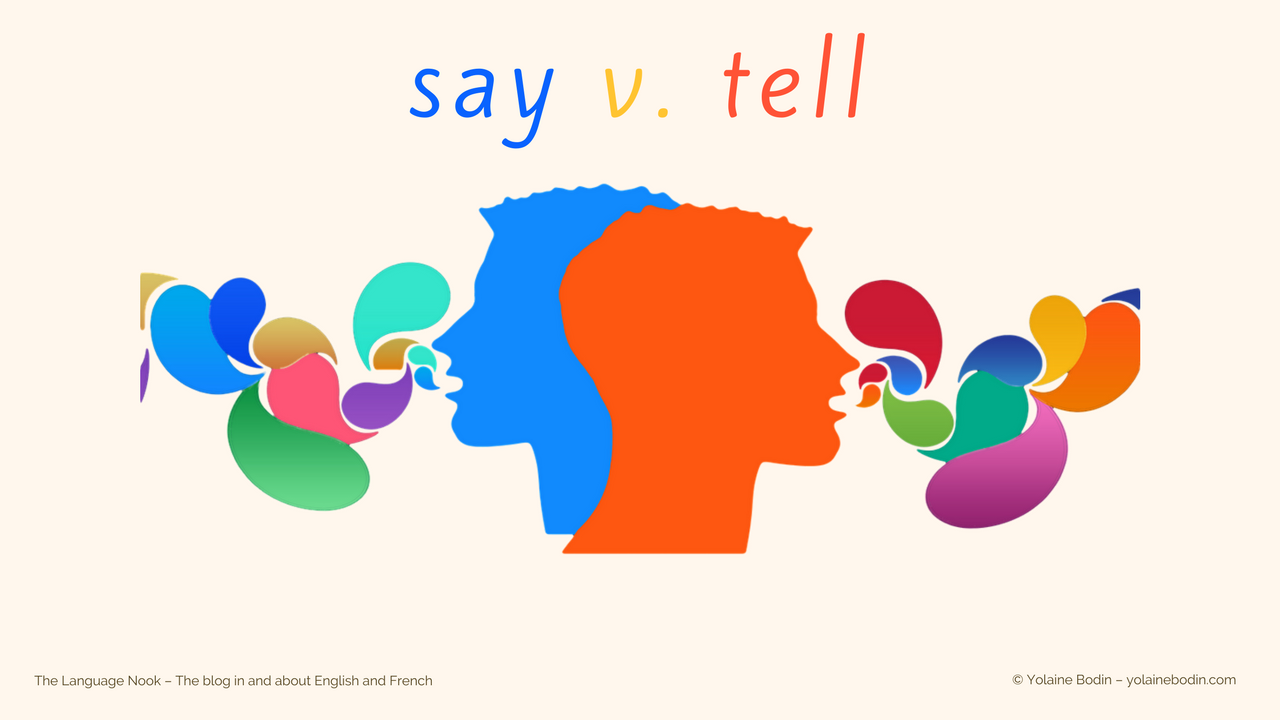 English verbs say and tell explained in The Language Nook