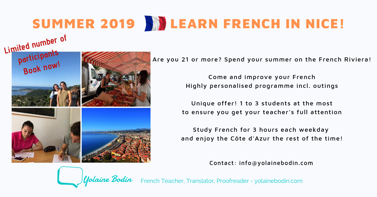 Summer 2019 Learn French in Nice