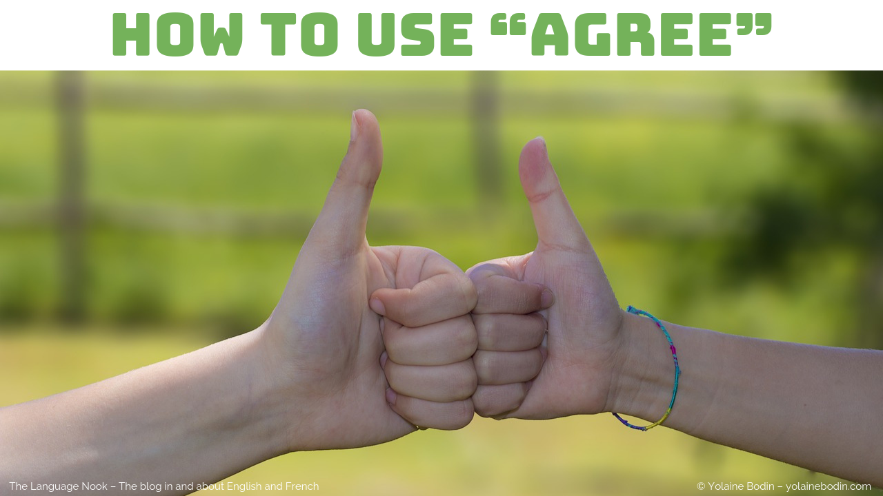 """How to use the verb """"to agree"""" in English"""