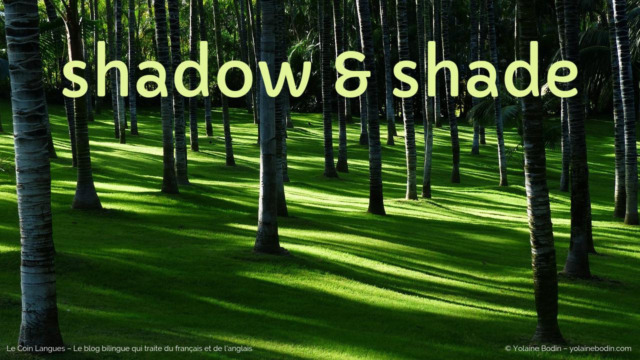 Ombre en français : shade ou shadow en anglais