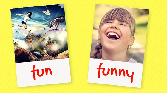 fun and funny: 2 words with different meanings - The Language Nook - Yolaine Bodin