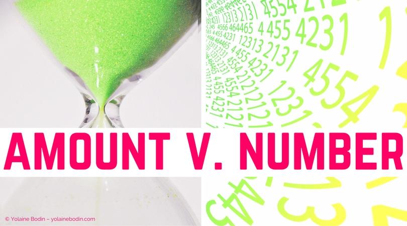 Vocabulaire anglais : amount et number