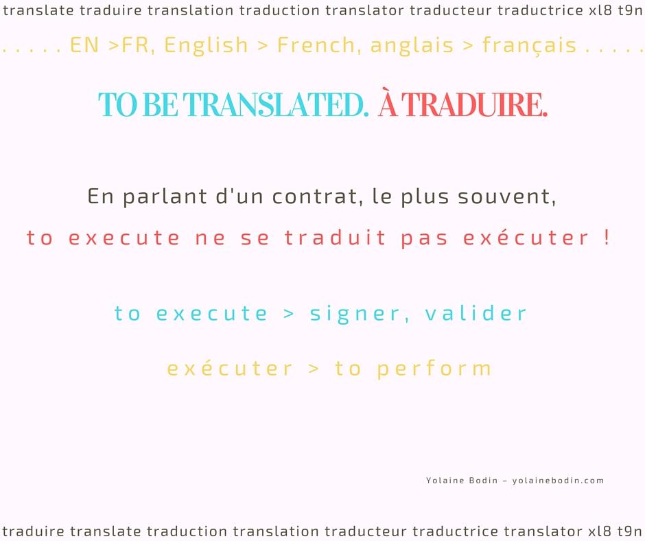 tuyau traduction anglais français execute vs exécuter