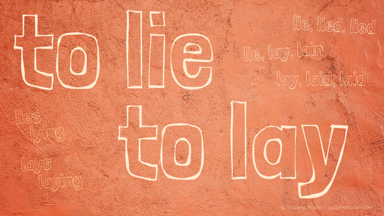 Difference between the verbs to lie and to lay