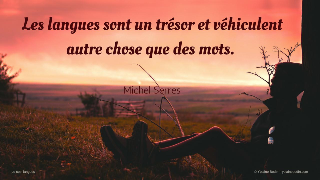 citation de Michel Serres sur les langues