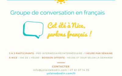 Groupe de conversation en français cet été à Nice
