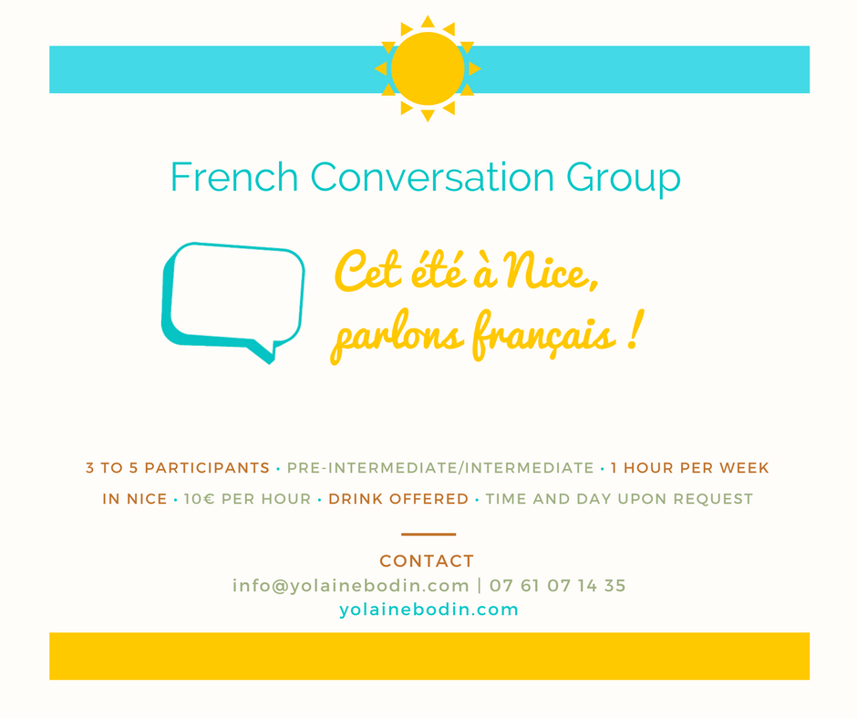 French Conversation Group - Summer in Nice