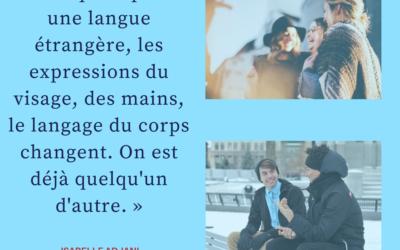 « Dès qu'on parle une langue étrangère… »