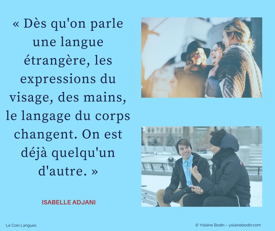 dès qu'on parle une langue... citation