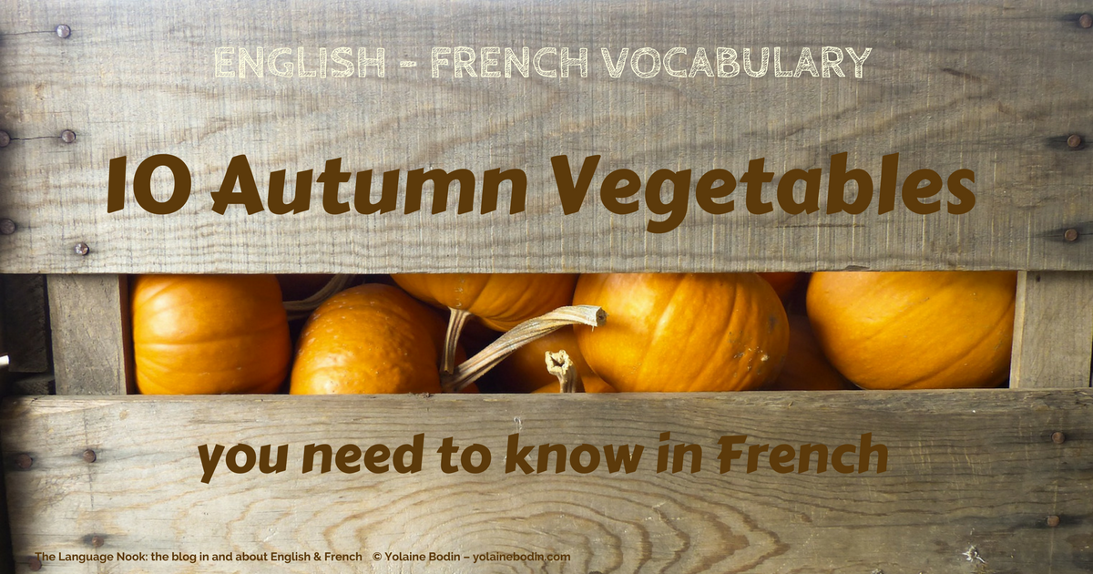 English French vocabulary - autumn vegetables