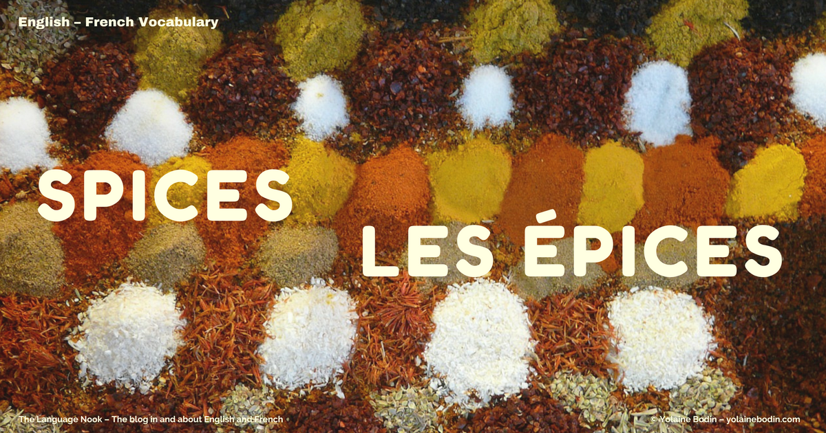 Spices : English - French Vocabulary
