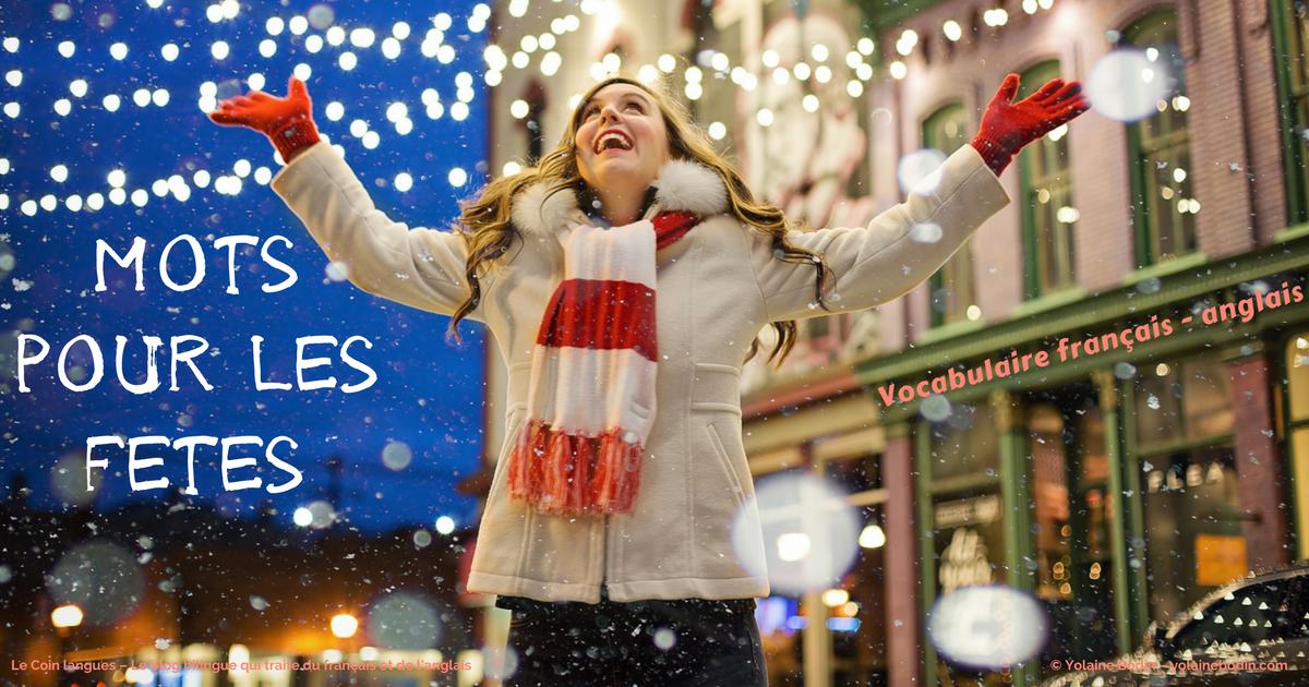 vocabulaire français anglais des fêtes de fin d'année