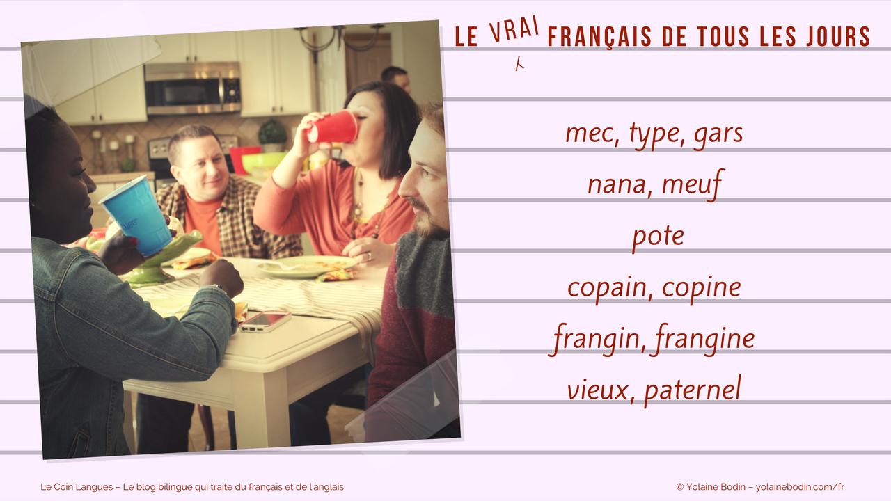 en français familier : parler des gens