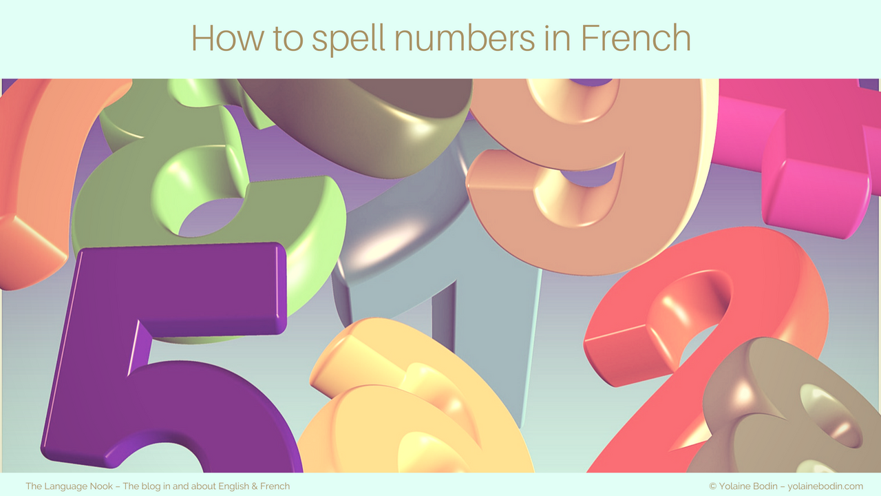 French numbers: spelling