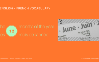 The months of the year in English and in French