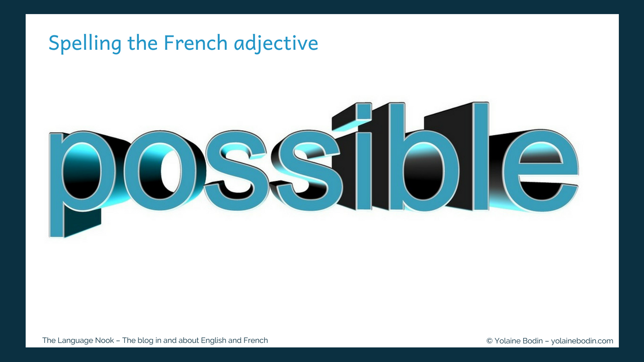 spelling possible in French