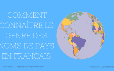 Le genre des noms de pays en français