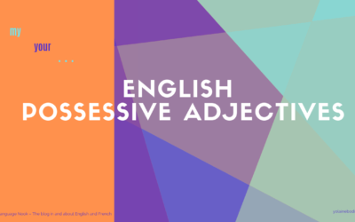 English possessive adjectives
