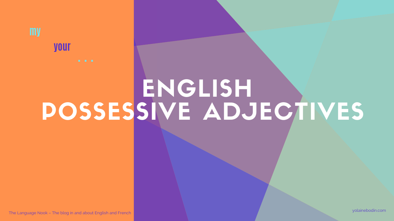 English possessive adjectives