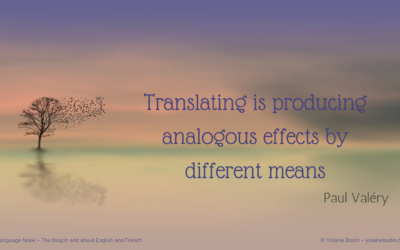 "A quote by Paul Valery: ""Translating is… """