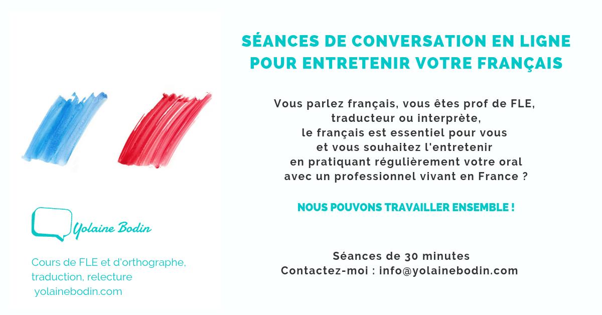 Conversation en français pour pros