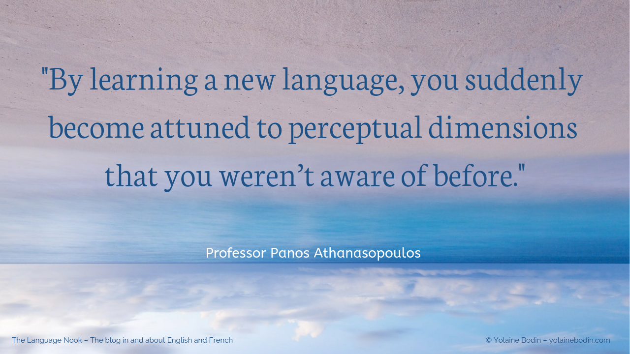 Quote: By learning a new language, you suddenly…