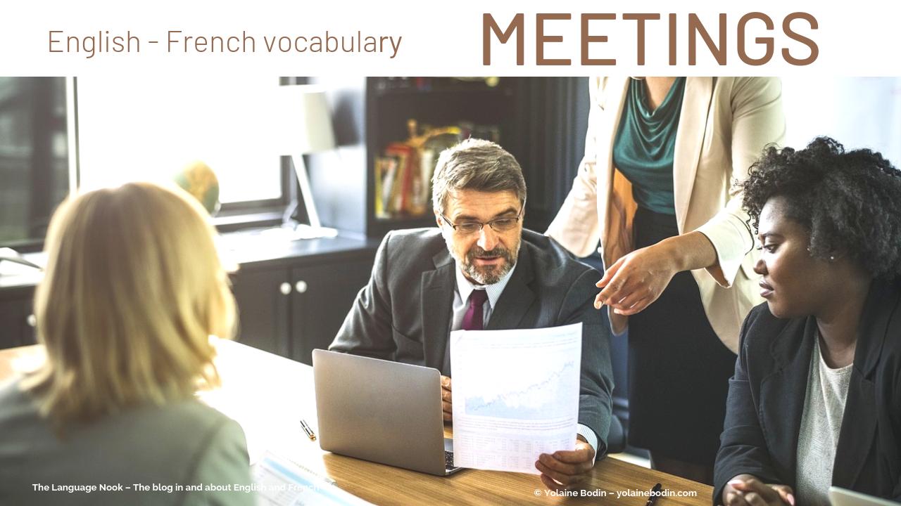 meetings vocabulary