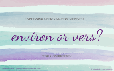 Environ or vers? What's the difference?