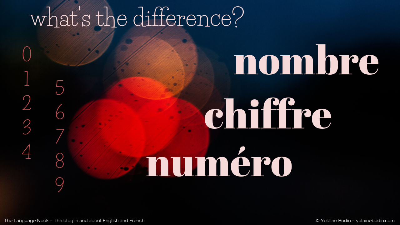 French words chiffre, nombre and numero