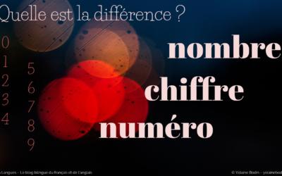 Comprendre la différence entre chiffre, nombre et numéro