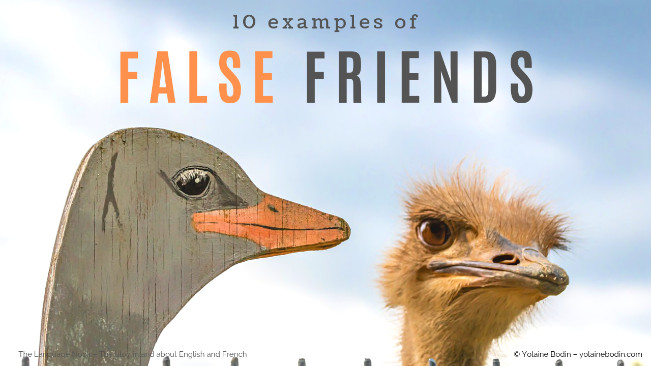 10 Examples of False Friends