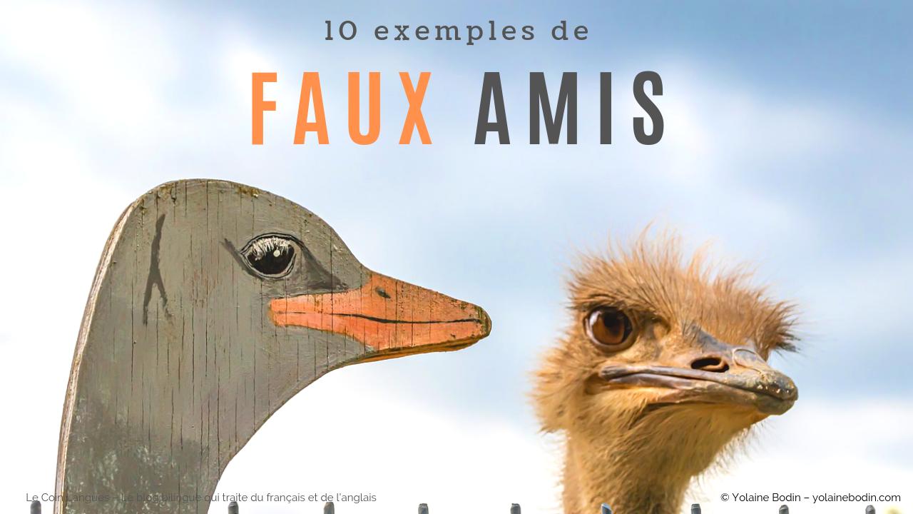 10 faux amis anglais - français