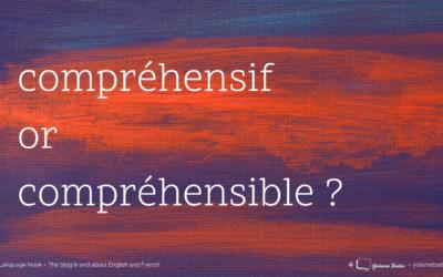 Compréhensif or compréhensible?