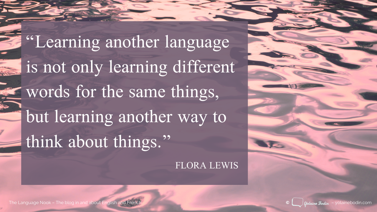 Quote about learning another language by Flora Lewis