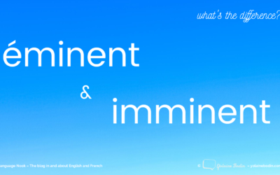 What's the difference between éminent and imminent?