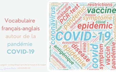 COVID-19 et pandémie: les mots français et anglais