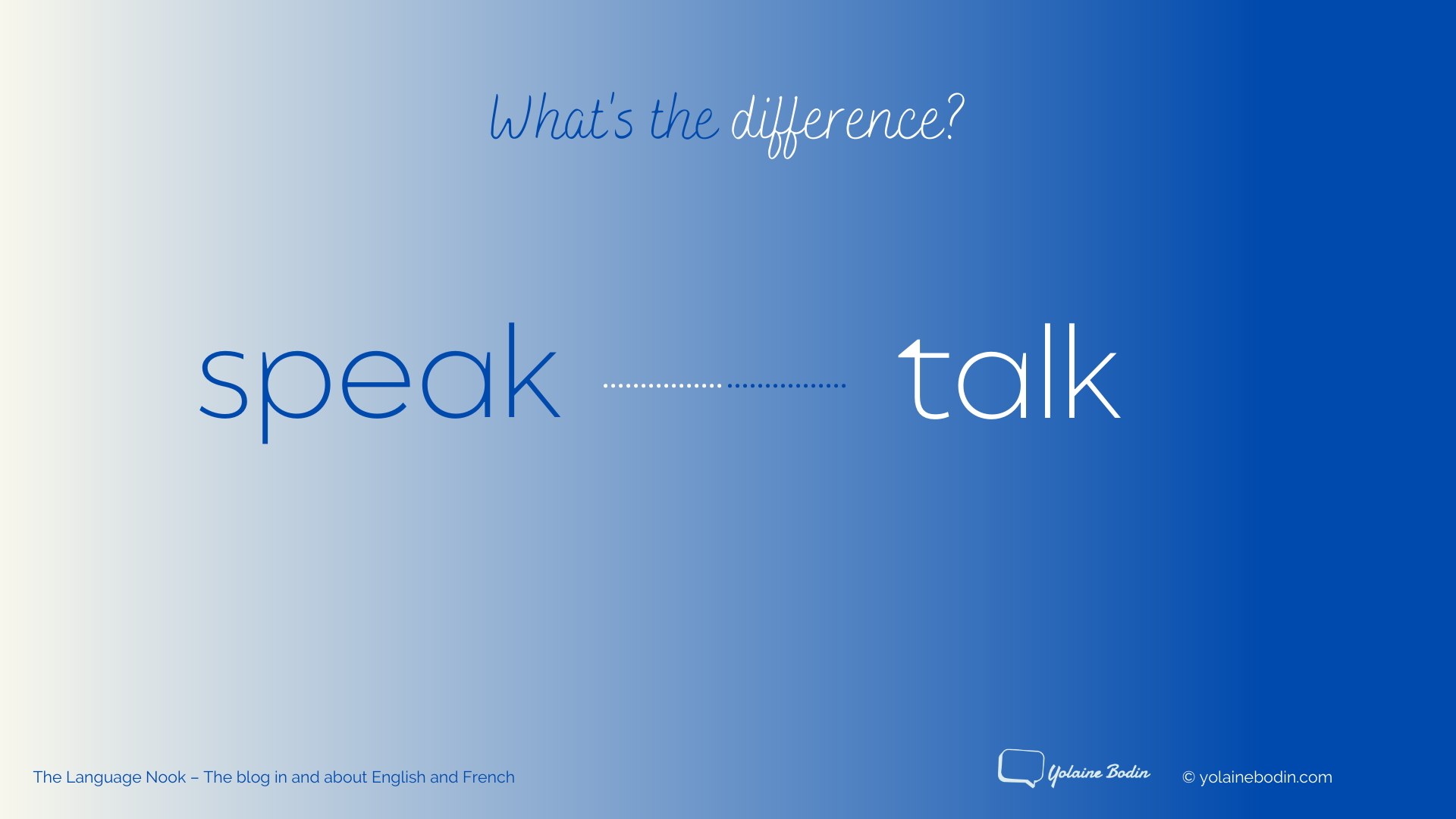 Speak or talk - Illustration by Yolaine Bodin